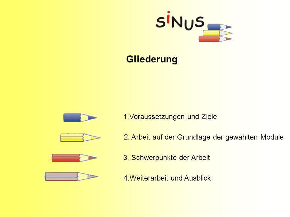 Gliederung 4.Weiterarbeit und Ausblick 1.Voraussetzungen und Ziele 2.