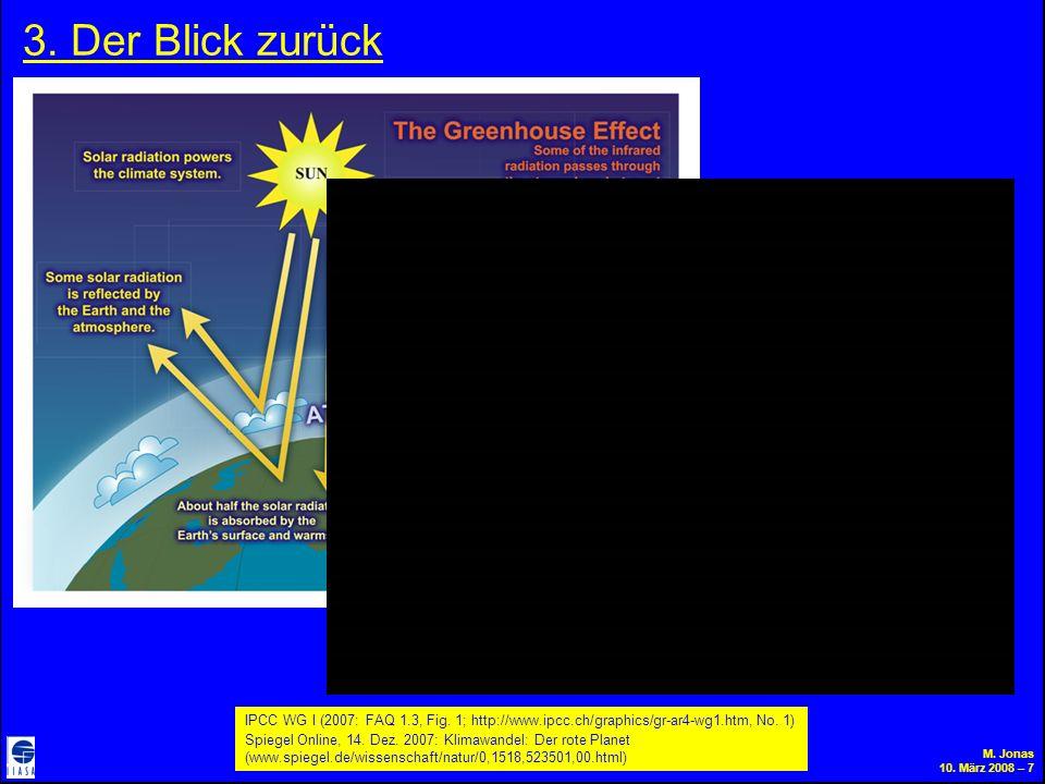 M. Jonas 10. März 2008 – 7 3. Der Blick zurück IPCC WG I (2007: FAQ 1.3, Fig.