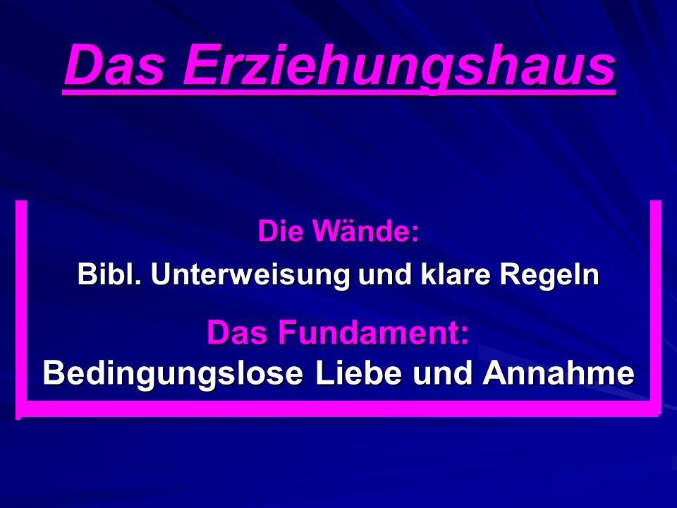 Das Erziehungshaus Die Wände: Bibl.