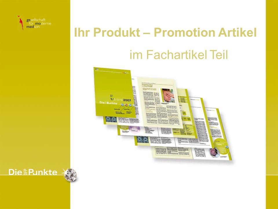 Ihr Produkt – Promotion Artikel im Fachartikel Teil
