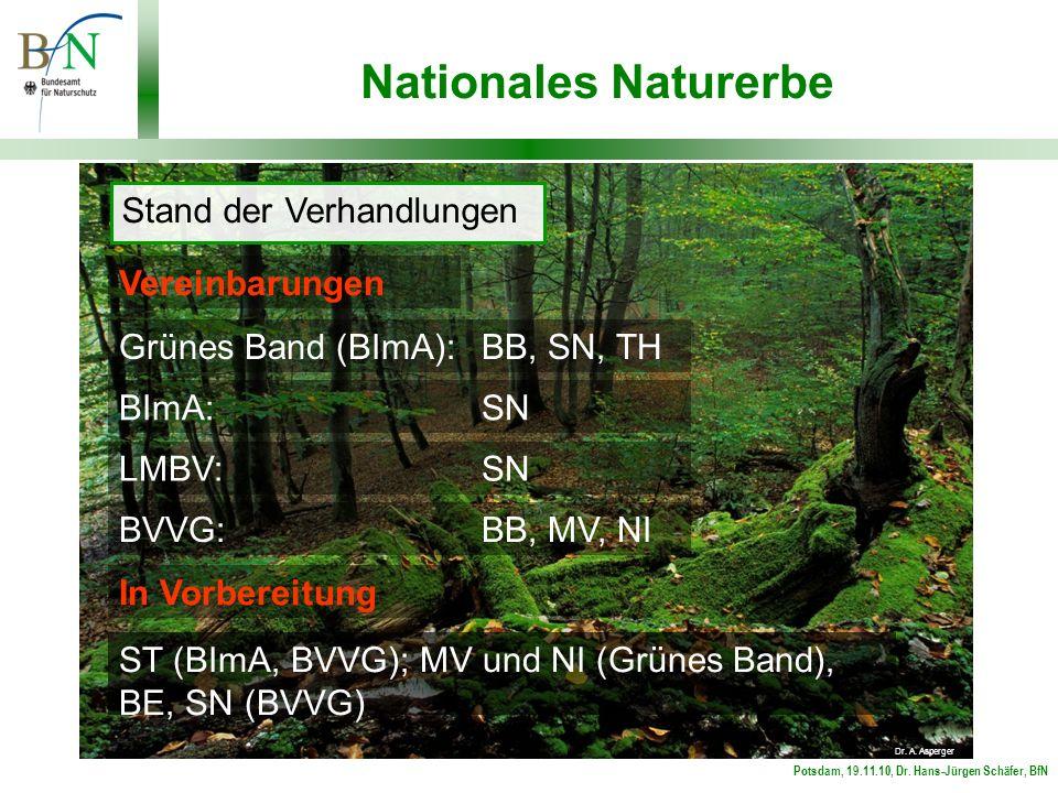 Potsdam, 19.11.10, Dr. Hans-Jürgen Schäfer, BfN Nationales Naturerbe Stand der Verhandlungen Dr.