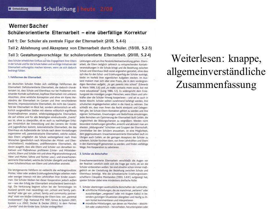 Prof. Dr. W. Sacher 2013 2012 Prof. Dr. Werner Sacher Weiterlesen: knappe, allgemeinverständliche Zusammenfassung Werner Sacher Teil 1: Der Schüler al
