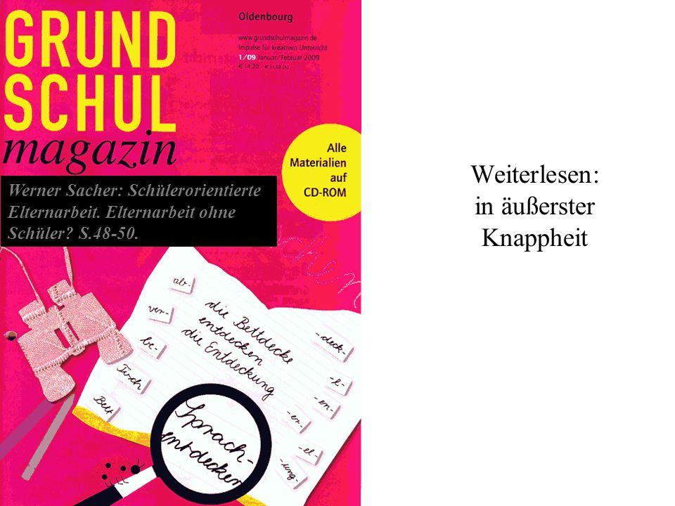 Prof. Dr. W. Sacher 2013 2012 Prof. Dr. Werner Sacher Weiterlesen: in äußerster Knappheit Werner Sacher: Schülerorientierte Elternarbeit. Elternarbeit