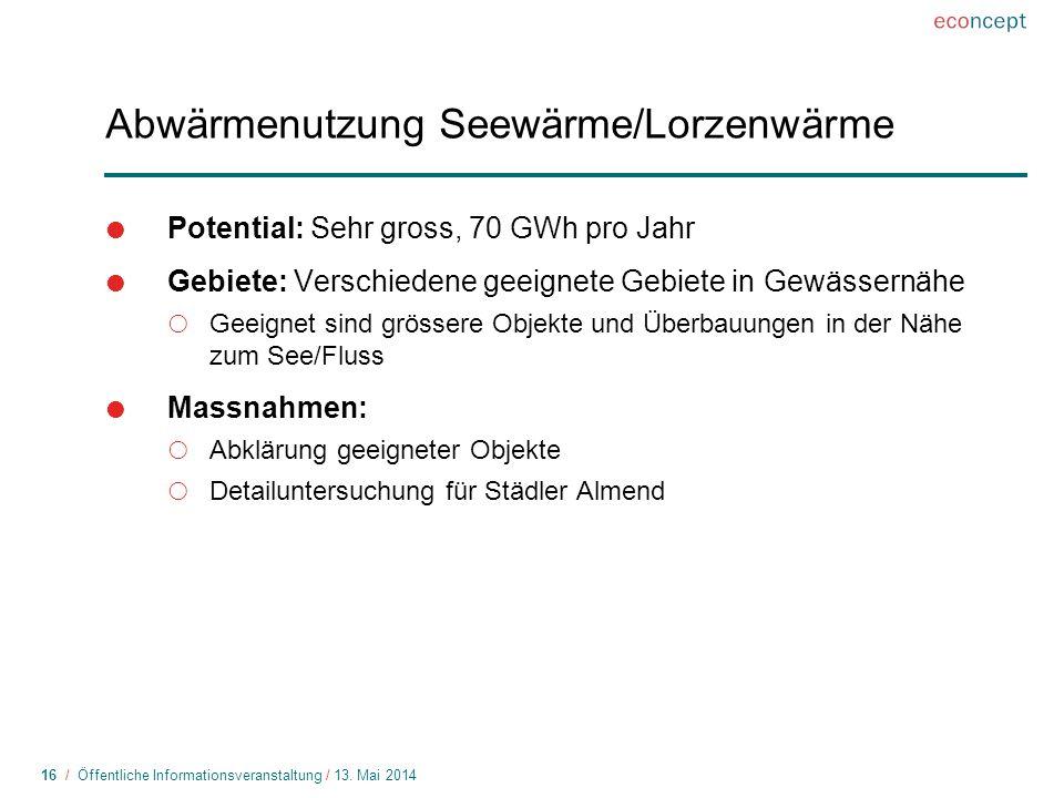 16 / Öffentliche Informationsveranstaltung / 13.