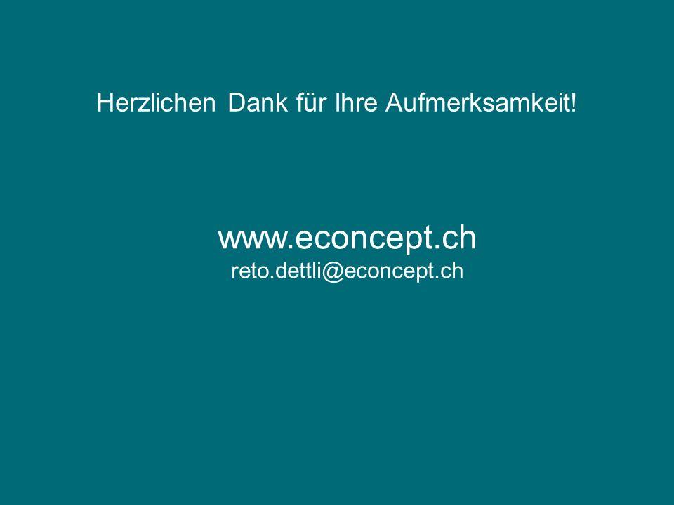 Herzlichen Dank für Ihre Aufmerksamkeit! www.econcept.ch reto.dettli@econcept.ch