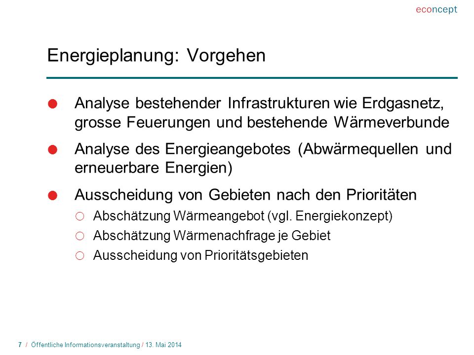 8 / Öffentliche Informationsveranstaltung / 13.