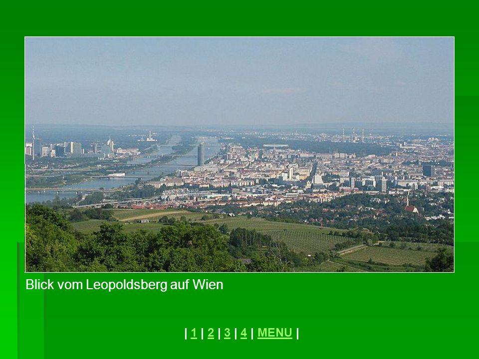 Blick vom Leopoldsberg auf Wien | 1 | 2 | 3 | 4 | MENU |1234MENU