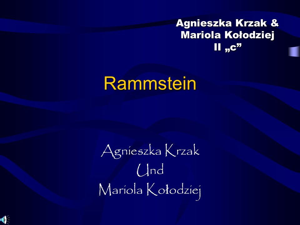 Rammstein Agnieszka Krzak Und Mariola Ko ł odziej Agnieszka Krzak & Mariola Kołodziej II c