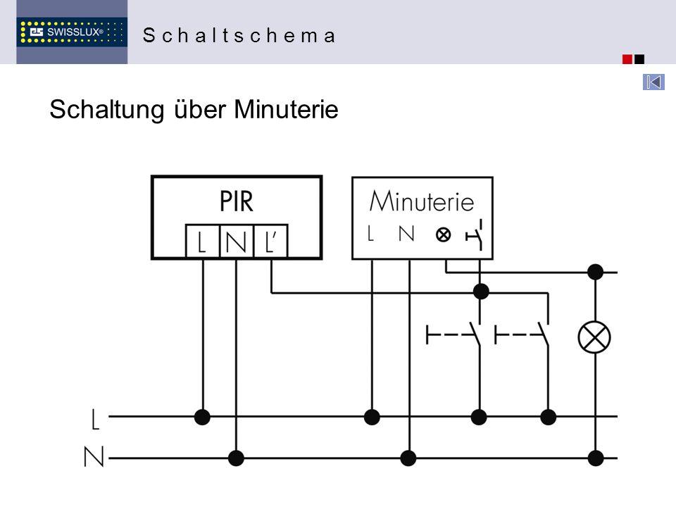 Schaltung über Minuterie S c h a l t s c h e m a