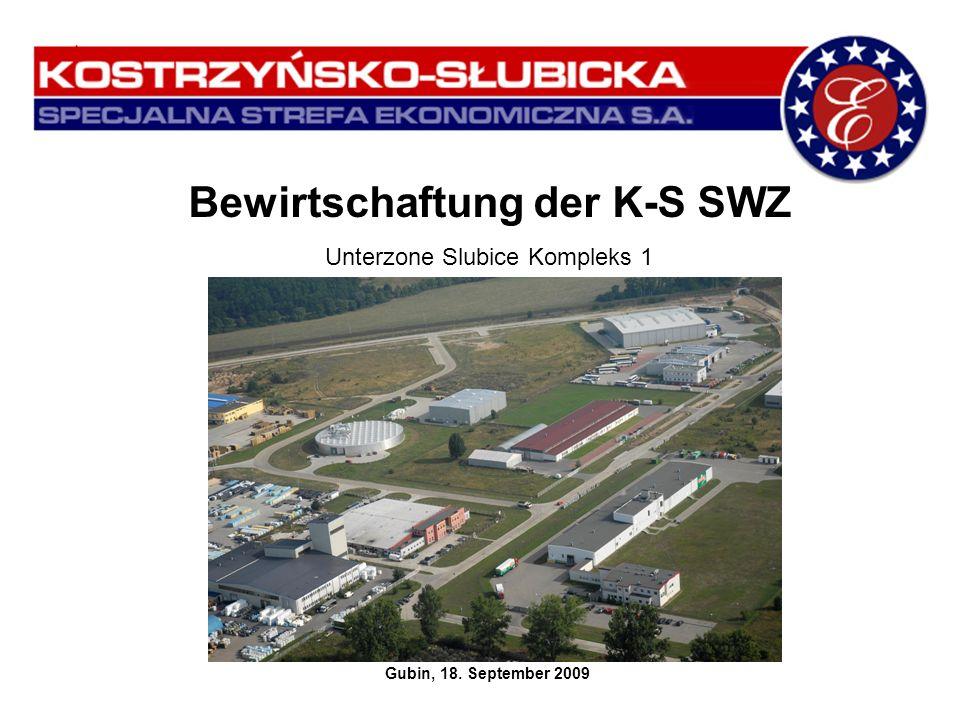 Bewirtschaftung der K-S SWZ Unterzone Slubice Kompleks 1 Gubin, 18. September 2009