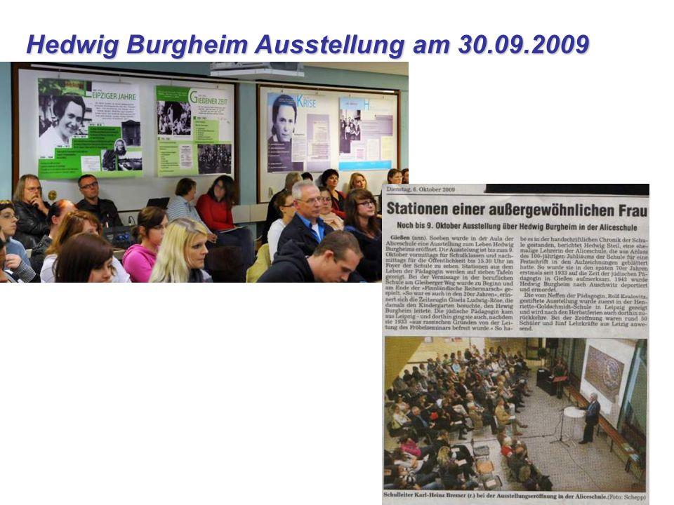 Hedwig Burgheim Ausstellung am 30.09.2009