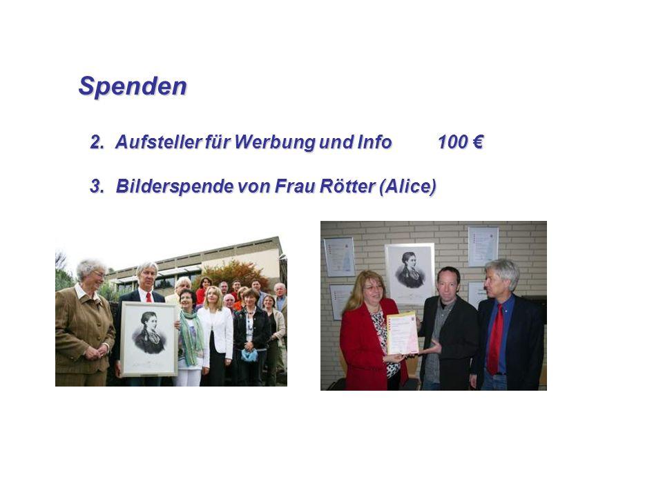 Spenden Spenden 3. Bilderspende von Frau Rötter (Alice) 3.