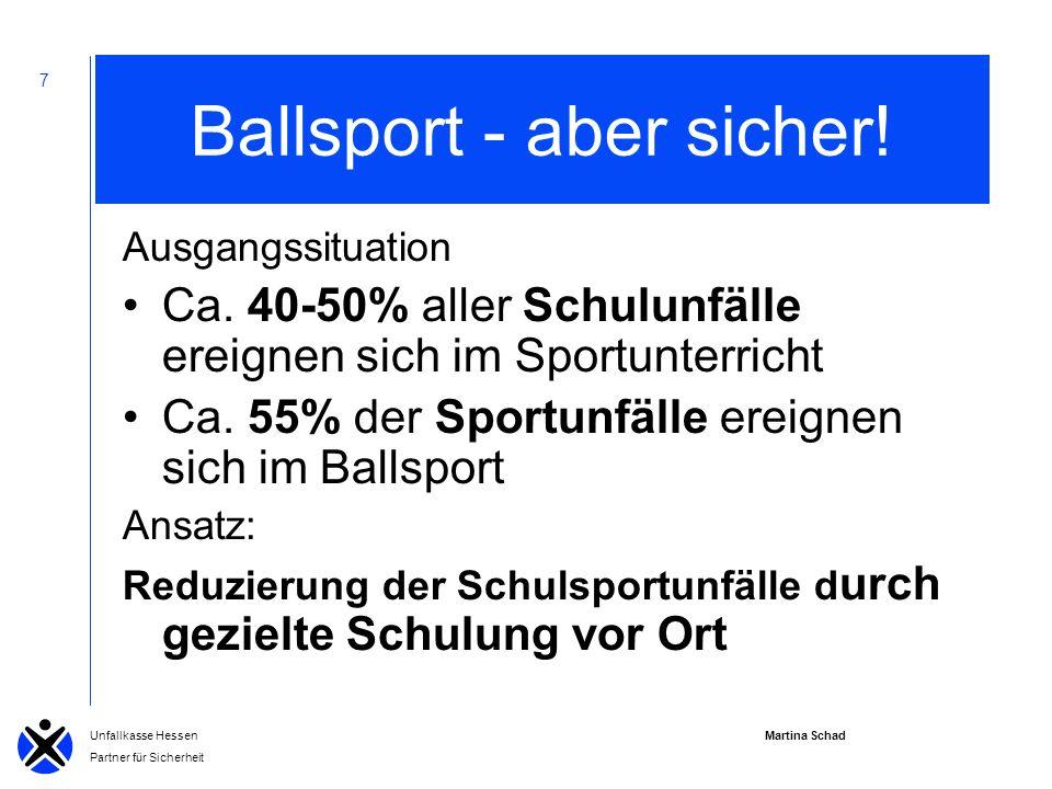 Martina Schad Unfallkasse Hessen Partner für Sicherheit 7 Ballsport - aber sicher.