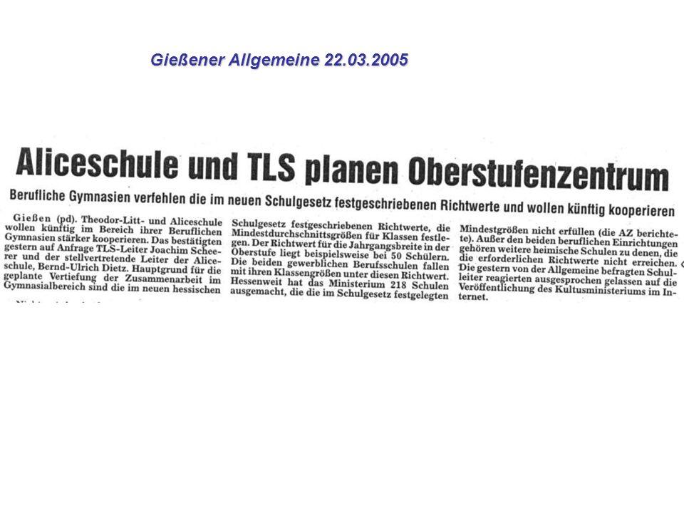 Gießener Allgemeine 22.03.2005