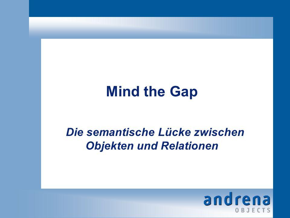 Mind the Gap Die semantische Lücke zwischen Objekten und Relationen