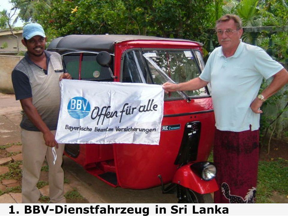 1. BBV-Dienstfahrzeug in Sri Lanka