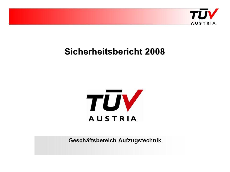Sicherheitsbericht 2008 Geschäftsbereich Aufzugstechnik