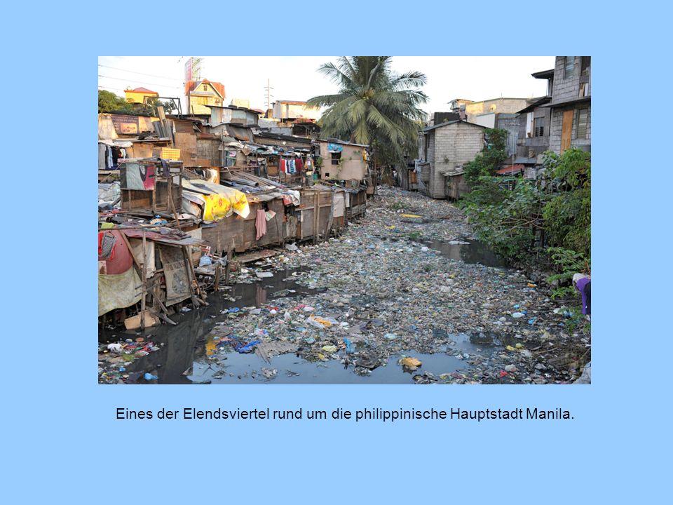 Eines der Elendsviertel rund um die philippinische Hauptstadt Manila.