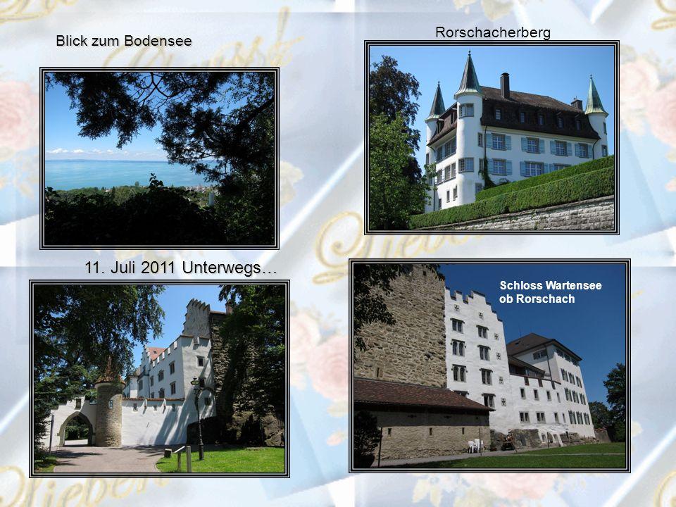 11. Juli 2011 Unterwegs… Schloss Wartensee ob Rorschach Rorschacherberg Blick zum Bodensee