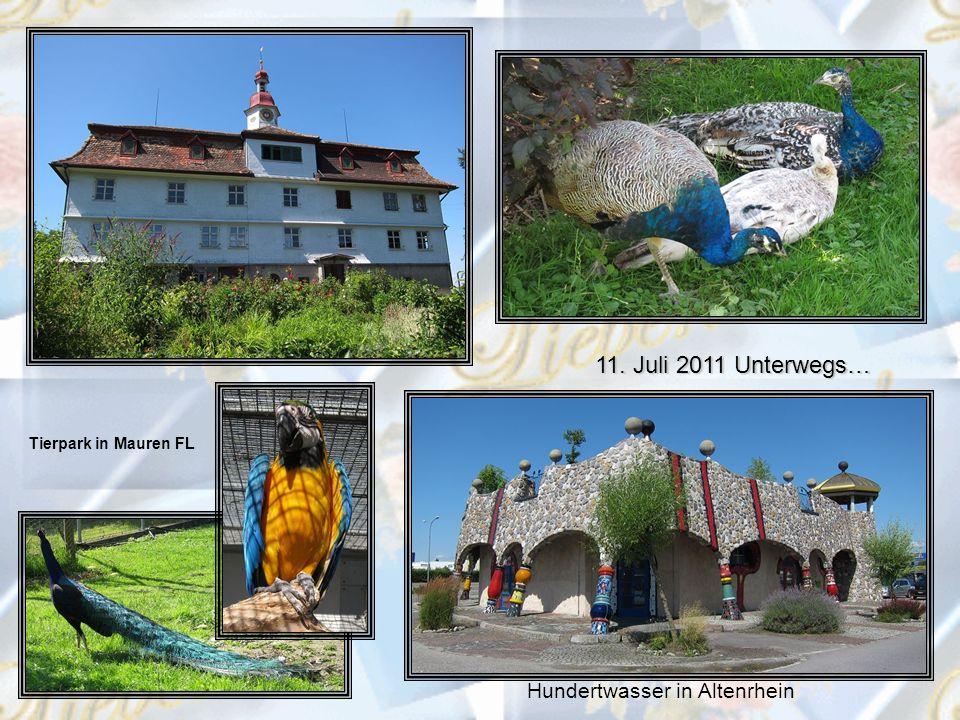 11. Juli 2011 Unterwegs… Hundertwasser in Altenrhein Tierpark in Mauren FL