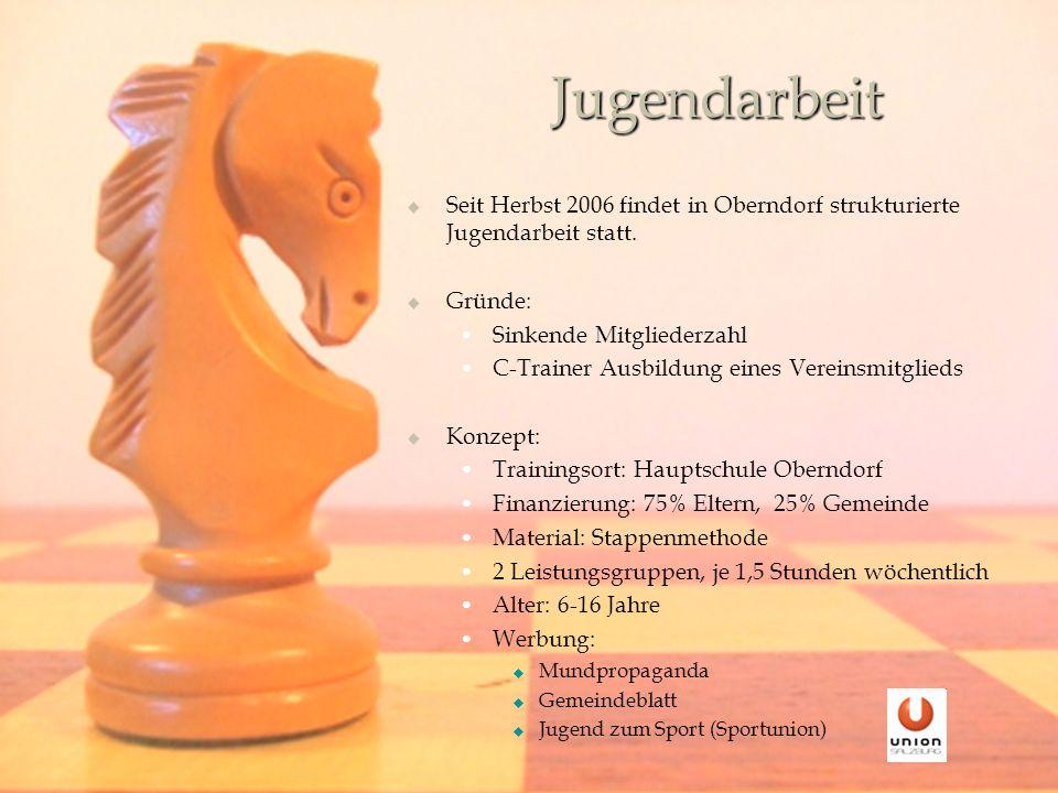 Jugendarbeit Seit Herbst 2006 findet in Oberndorf strukturierte Jugendarbeit statt.