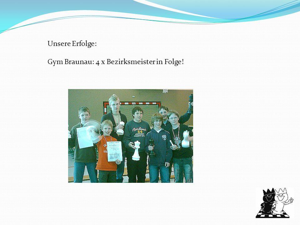 Unsere Erfolge: Gym Braunau: 4 x Bezirksmeister in Folge!