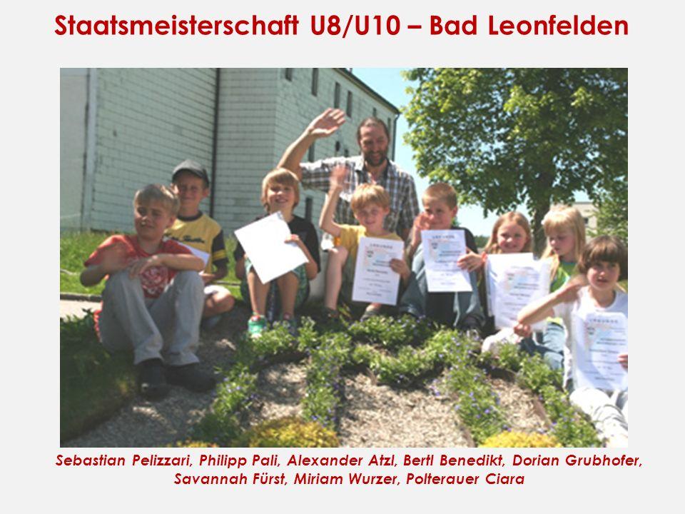 Staatsmeisterschaft U8/U10 – Bad Leonfelden Sebastian Pelizzari, Philipp Pali, Alexander Atzl, Bertl Benedikt, Dorian Grubhofer, Savannah Fürst, Miria