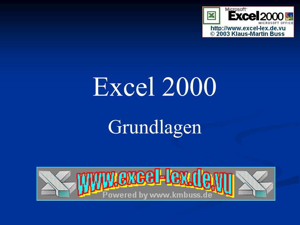 In dieser Excel-2000-Grundlagenschulung soll Ihnen die Bedienung und Handhabung von Microsoft Excel 2000 etwas näher gebracht werden.