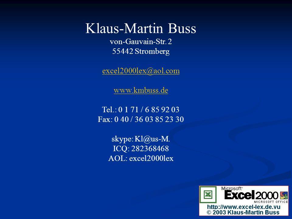 Klaus-Martin Buss von-Gauvain-Str.
