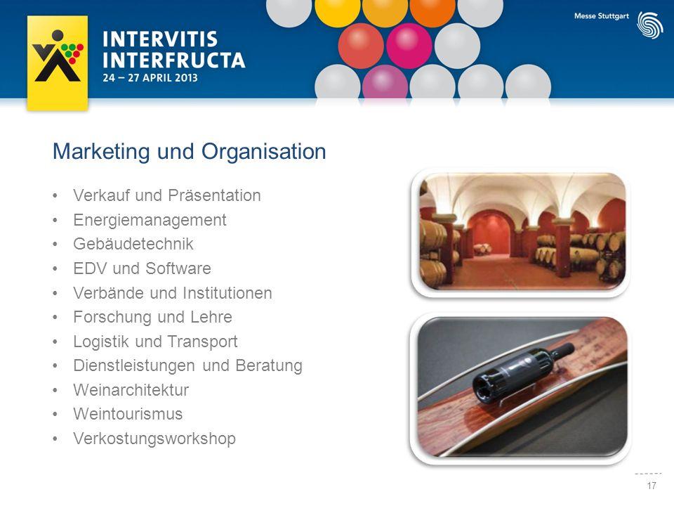 17 Marketing und Organisation Verkauf und Präsentation Energiemanagement Gebäudetechnik EDV und Software Verbände und Institutionen Forschung und Lehr