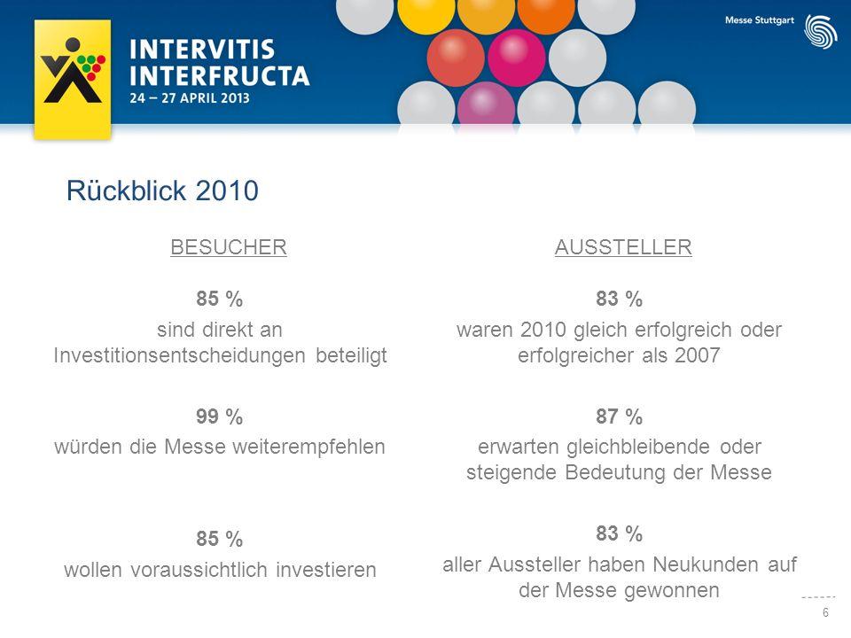 7 Rückblick 2010 Hoch professionelle Organisation, viele internationale Fachbesucher, sogar Bundeskanzlerin Merkel als Ehrengast und ein Kongressprogramm, zu dem man den Veranstaltern nur gratulieren kann.