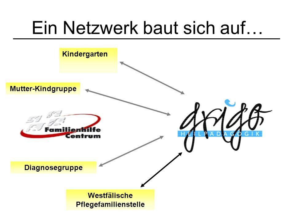 Ein Netzwerk baut sich auf… Kindergarten Mutter-Kindgruppe Diagnosegruppe Westfälische Pflegefamilienstelle