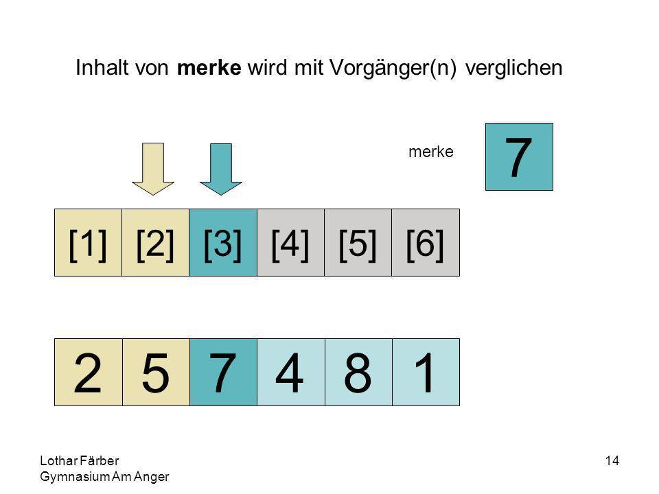 Lothar Färber Gymnasium Am Anger 14 Inhalt von merke wird mit Vorgänger(n) verglichen 257481 [1][2][3][4][5][6] merke 7