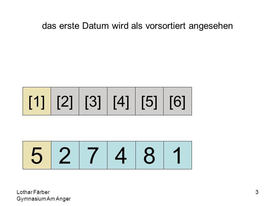 Lothar Färber Gymnasium Am Anger 24 4>2 die 2 steht richtig, die gemerkte 4 muss rechts neben der 2 - also in zahlen[2] - eingefügt werden 255781 [1][2][3][4][5][6] merke 4