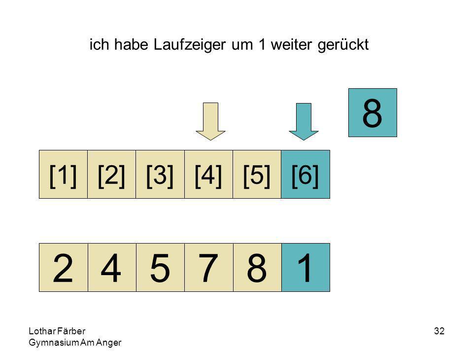 Lothar Färber Gymnasium Am Anger 32 ich habe Laufzeiger um 1 weiter gerückt 245781 [1][2][3][4][5][6] 8