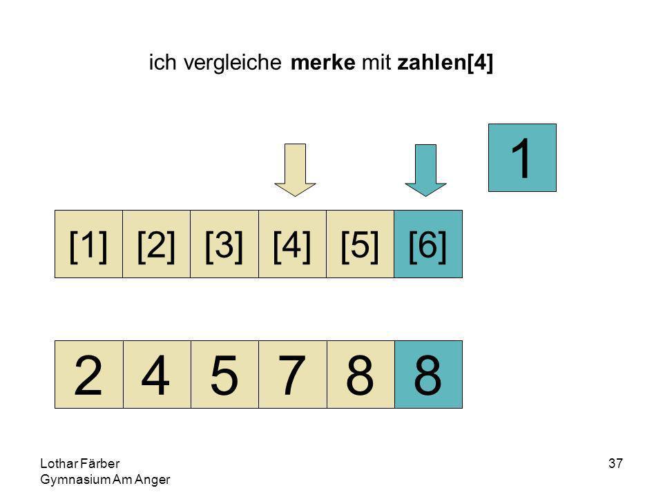 Lothar Färber Gymnasium Am Anger 37 ich vergleiche merke mit zahlen[4] 245788 [1][2][3][4][5][6] 1
