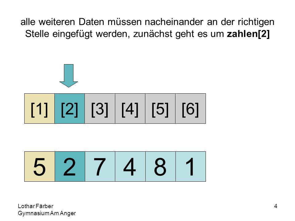 Lothar Färber Gymnasium Am Anger 4 alle weiteren Daten müssen nacheinander an der richtigen Stelle eingefügt werden, zunächst geht es um zahlen[2] 527