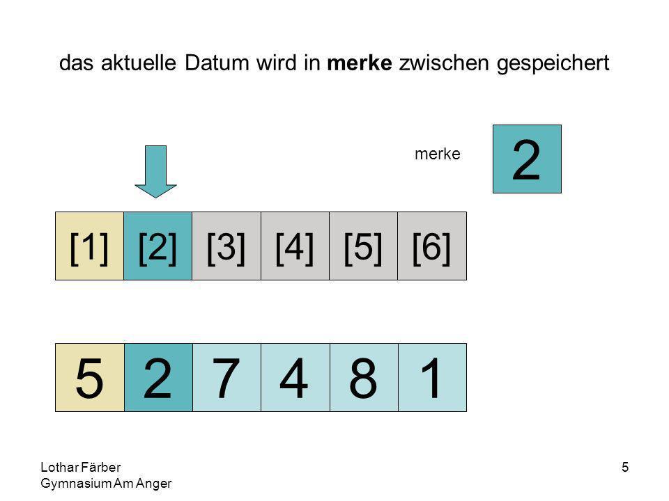 Lothar Färber Gymnasium Am Anger 16 zahlen[1] bis zahlen[3] sind vorsortiert 257481 [1][2][3][4][5][6] merke 7