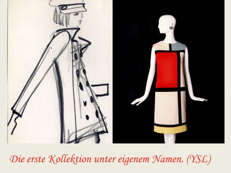 Yves kreierte viele Modetrends! z.B: den Hosenanzug (für Frauen), die Trapezlinie und den Beat-look.
