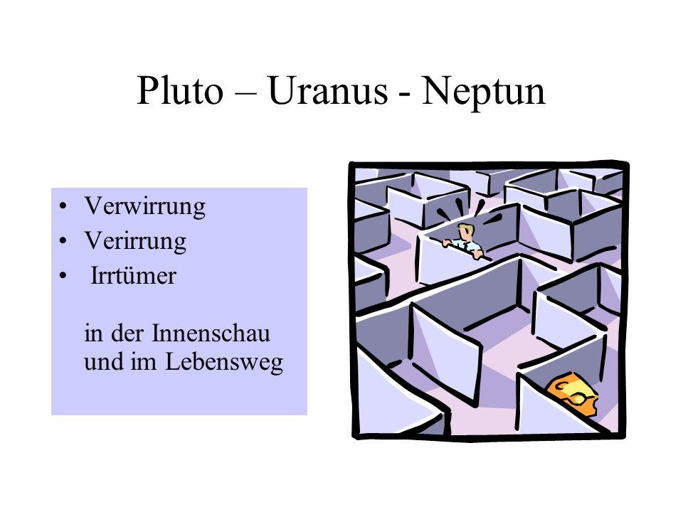Pluto – Uranus - Neptun Verwirrung Verirrung Irrtümer in der Innenschau und im Lebensweg