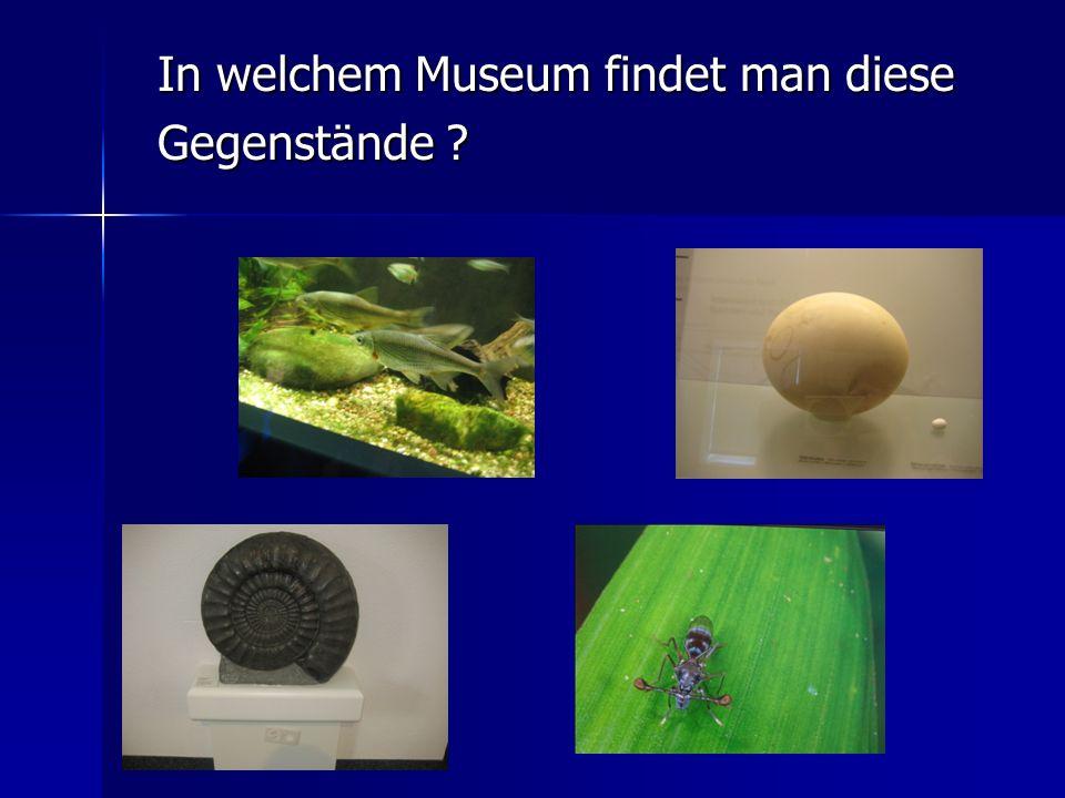 In welchem Museum findet man diese Gegenstände ?