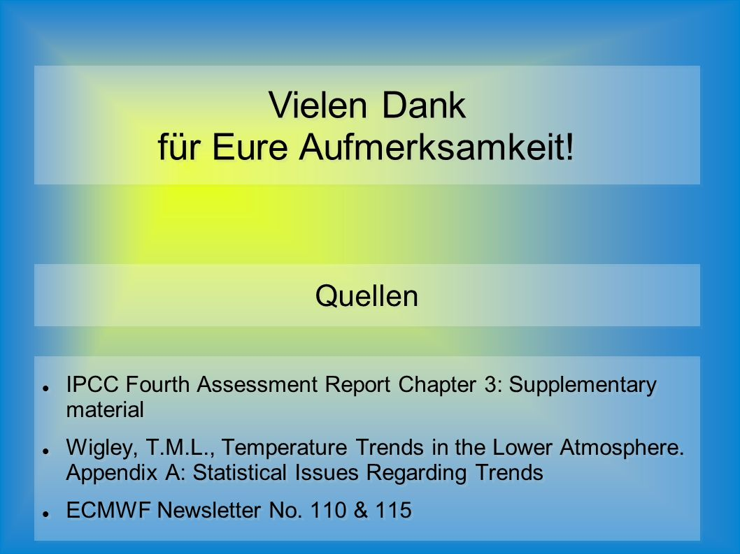 IPCC Fourth Assessment Report Chapter 3: Supplementary material Wigley, T.M.L., Temperature Trends in the Lower Atmosphere.