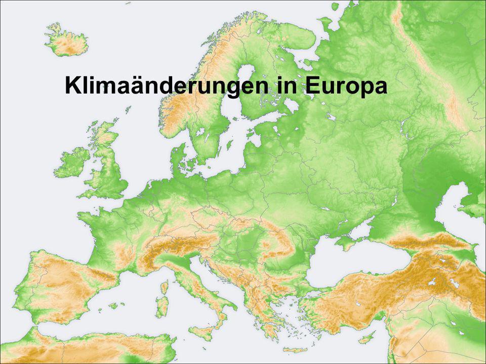 Klimaänderungen in Europa