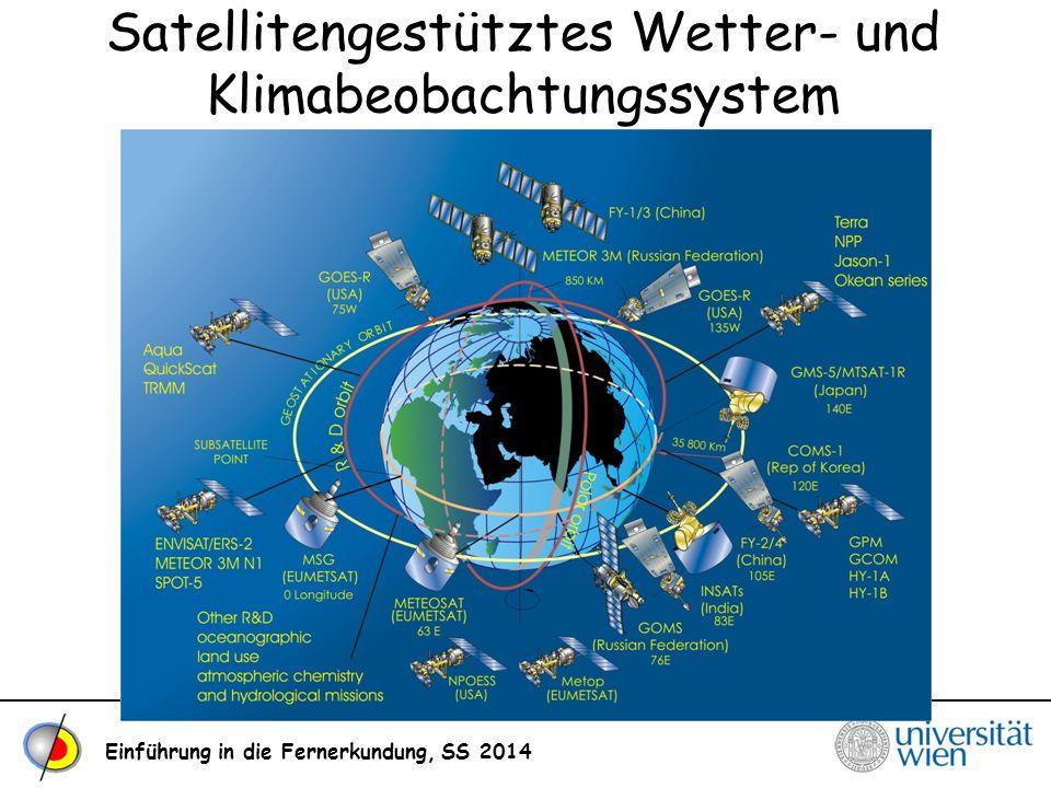 Einführung in die Fernerkundung, SS 2014 Satellitengestütztes Wetter- und Klimabeobachtungssystem