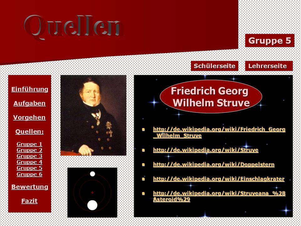 Gruppe 5 LehrerseiteSchülerseite EinführungAufgabenVorgehenQuellen: Gruppe 1 Gruppe 2 Gruppe 3 Gruppe 4 Gruppe 5 Gruppe 6 BewertungFazit http://de.wik