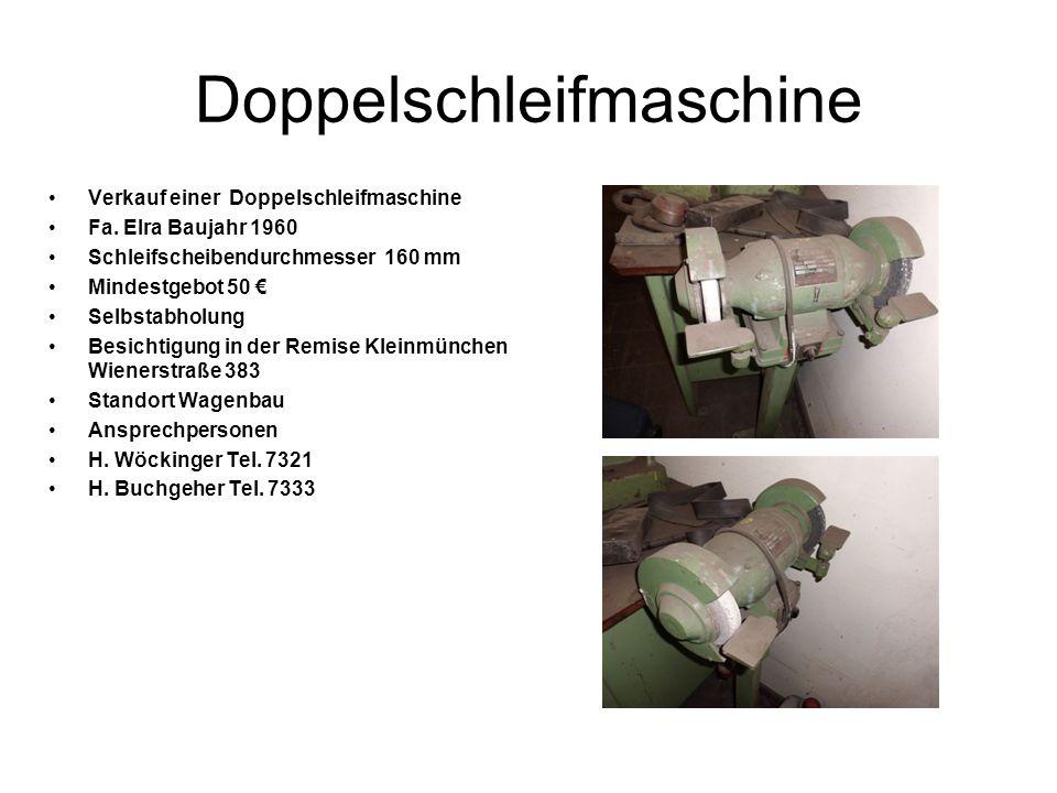 Doppelschleifmaschine Verkauf einer Doppelschleifmaschine Fa.