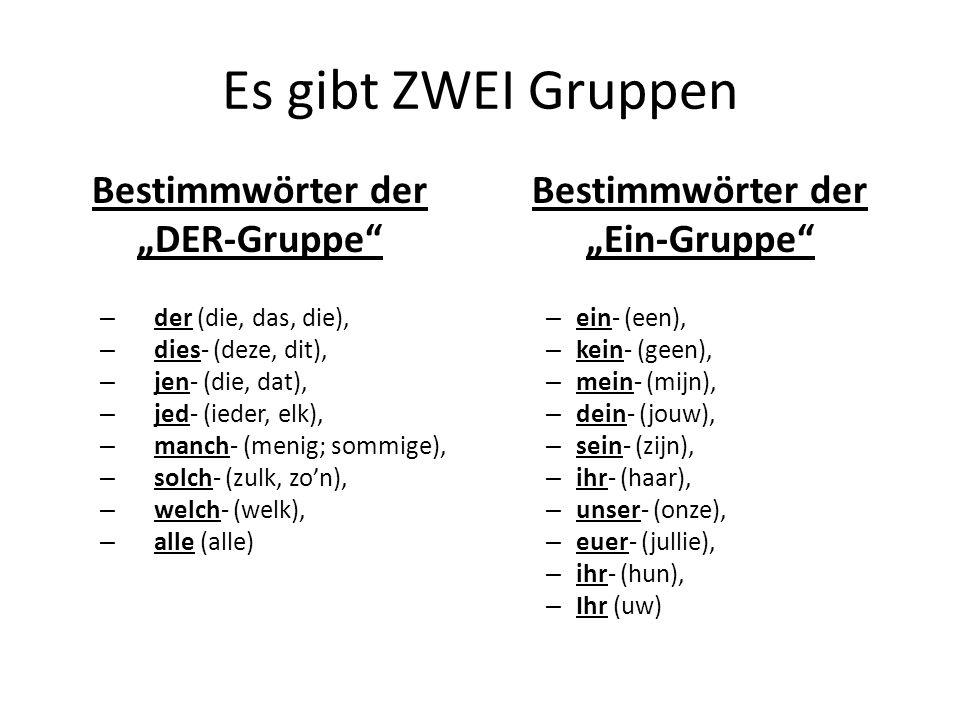 Das Adjektiv Gruppe DREI Die Null/Nichts-Gruppe