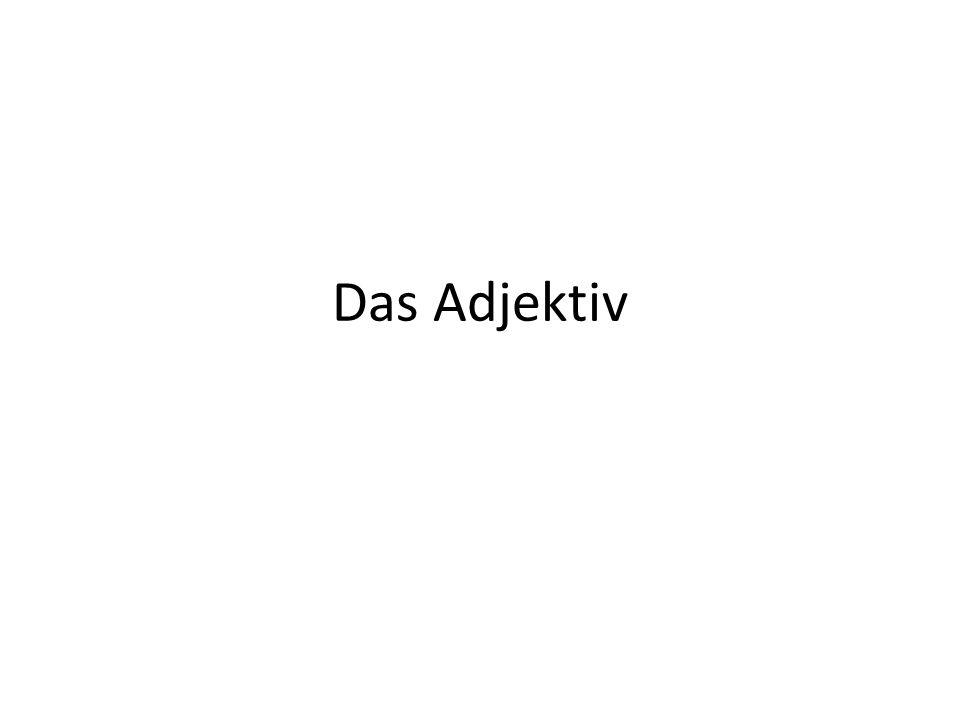 Für die Beugung des Adjektivs gibt es DREI Gruppen