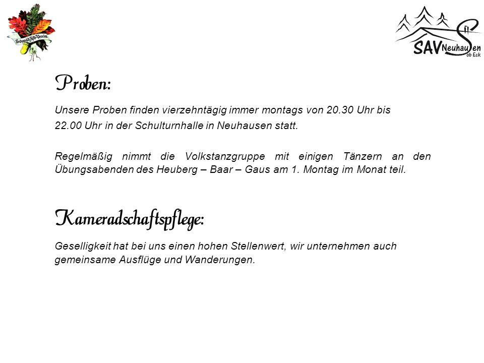 Die Geschichte Die Volkstanzgruppe des Schwäbischen Albverein wurde zum 75-jährigen Jubiläum der Ortsgruppe im Jahre 1976 von Hildegard Schaz-Strobel gegründet.
