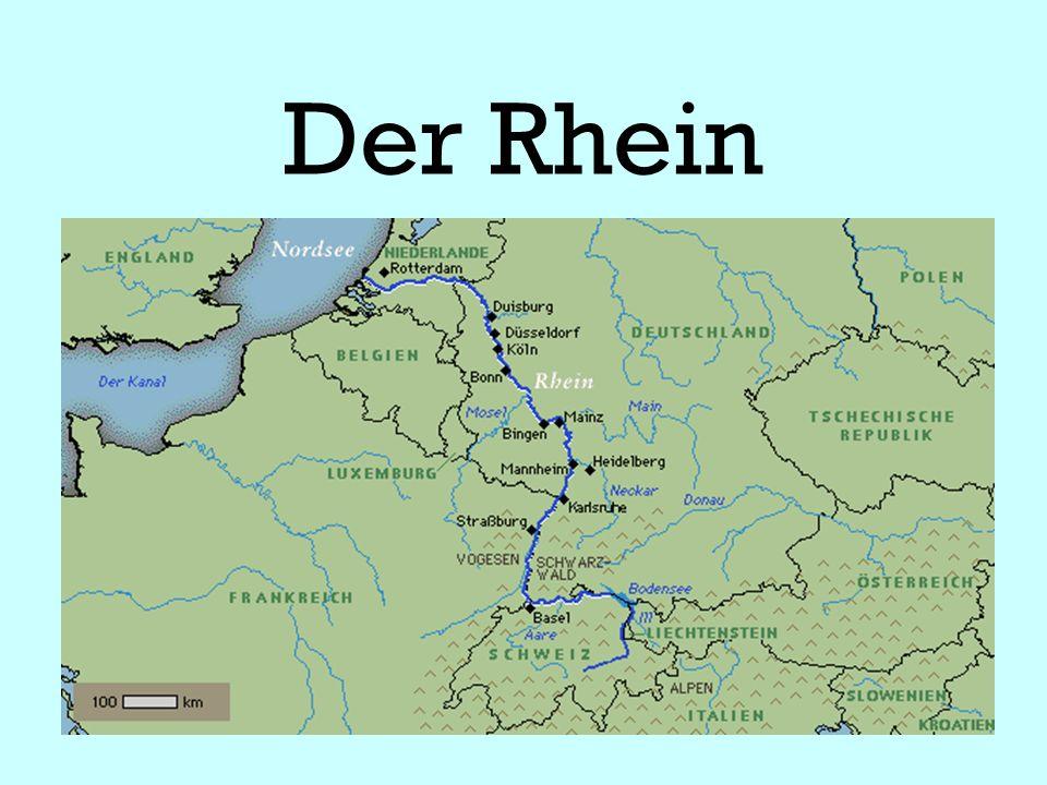 1.Durch welche Länder fließt der Rhein. Schweiz ________________ 2.